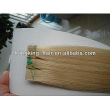 extensión popular y barata del pelo humano de la trama de la cinta
