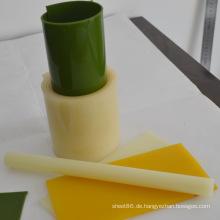 Grüne PU-Rolle / hellgelbe PU-Stange / gelbes PU-Blatt