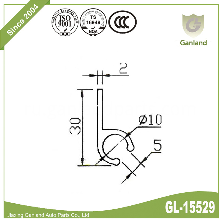 rail for curtain side truck gl-15529