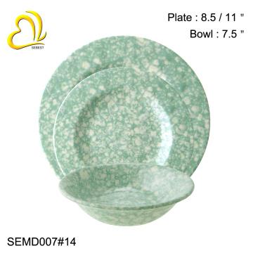 изготовленный на заказ Логос красота круглый меламин посуда