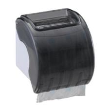 Inodoro público del hotel al por mayor Dispensador de papel plástico montado en la pared plástico negro redondo del tejido