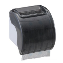 Hotel Public Toilet Wholesale Black Round Plastic Wall Mounted Tissue Plastic Paper Dispenser