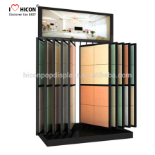 Catching Eyes Of Contractors Hausbesitzer Heavy Duty Floor Mosaik oder Keramik Fliesen Display Rack Unit Slide Fliesen Display Stand