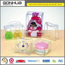 High quality no printing clear plastic custom-made jewelry packaging box for display