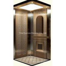 Luxo com rosa espelho de ouro aço inoxidável Home Elevator