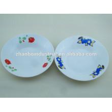 Placa de sopa de cerámica conmemorativa personalizada