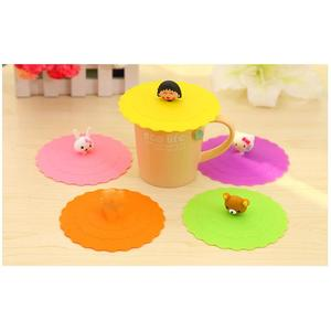Diameter 10.4cm Silicone Cartoon Ceramic Silicone Mug Lids