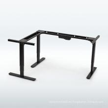 escritorios de altura ajustable con motor eléctrico Estación de trabajo informática electrónica de pie de 90 grados