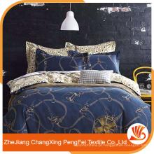 Têxtil doméstico 100% poliéster tecido escovado folha de quatro peças