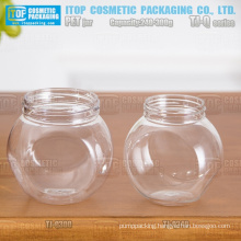 TJ-Q Series 240g and 300g big belly color customizable good quality wholesale empty pet jar for facial mask