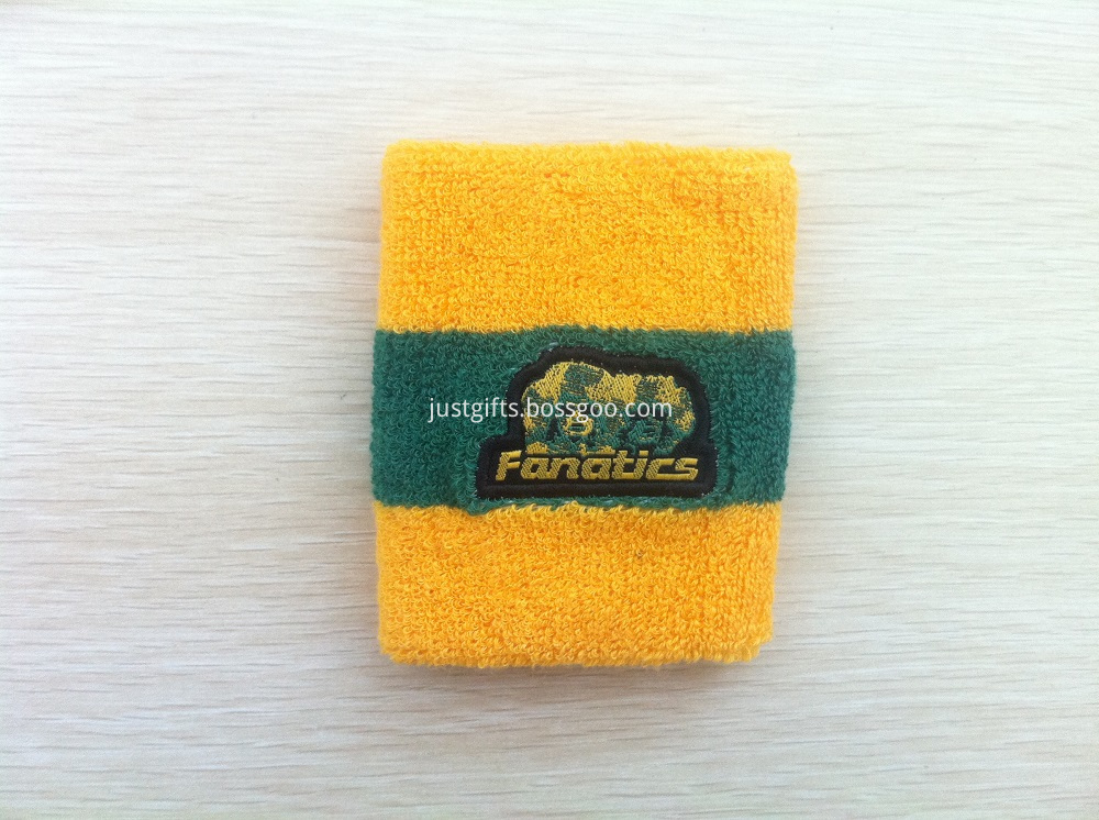Promotional Embroidered Cotton Wristband at Low Quantity