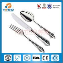 cuchara y tenedor de acero inoxidable para ensalada, nombres de artículos de cubertería