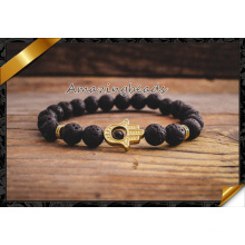Natural Agate Stone Bracelet Jewelry Gold Hamsa Male and Female Models Beads Bracelets Fashion Jewelry (CB050)