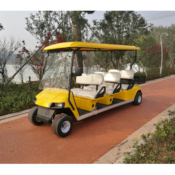6 peoples shuttle golf cart/shuttle golf car with cargo box
