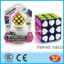 2016 Nuevo producto Cubo mágico del cubo del amor de YJ Cubo educativo Juguetes educativos Embalaje inglés para la promoción