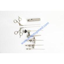0deg 2.7mm Veterinär Otoskop mit tragbaren LED-Lichtgriff, Scheide und Pinzetten