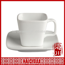 HCC oem design couple ceramic square cup and saucer set