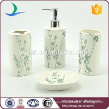 Cerámica hermosa china accesorio de baño con flores azules