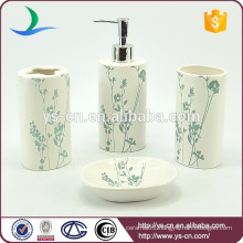 Ceramic beautiful china bathroom accessory with blue flowers