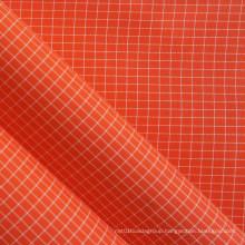 White Yarn Ripstop Oxford PVC Nylon Fabric
