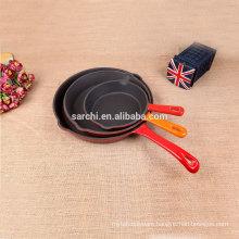 Enamel cast iron cookware set 3pcs skillet