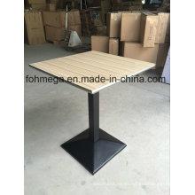 Mesa de comedor cuadrada con sellado de acero inoxidable (FOH-BC46C)