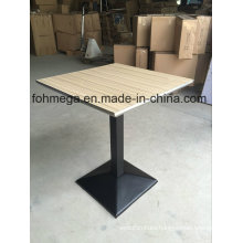 Square Dining Table with Stainless Steel Sealing (FOH-BC46C)