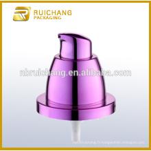 Pompe à lotions de revêtement UV en plastique / pompe à loches crème 24 mm / dévidoir à revêtement uv