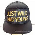 Кожа моды Спорт Cap Вышитые кожаные Hat Городские Hat моды