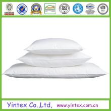 100% algodón blanco pato abajo almohada pato pluma almohada