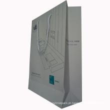 Saco de presente de compras de papel de alta qualidade de impressão personalizada com alça
