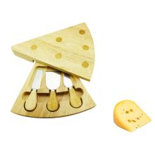 Triangle shape wood cheese board set