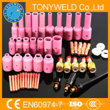 Acessórios de tochas wp18 / wp26 Kit de peças de soldagem 50PK tig