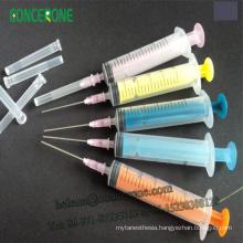 Color Plunger Disposable Sterile Syringe