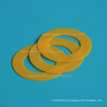 Arandela moldeada modificada para requisitos particulares del anillo de goma de silicona
