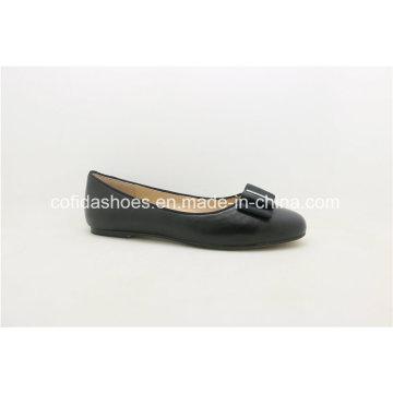 Las últimas Comfort Europe Ballerina Bombas de cuero Lady Shoe