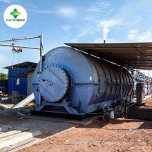 pyrolyse recyclage des pneus usés à l'usine de mazout