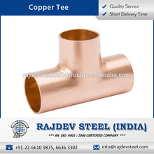 Wide Range of Fine Finish Anti Corrosive Copper Tee for Industrial Applications