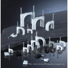 100 pçs / saco 12mm fio elétrico de nylon grampos de cabo plano com, aprovação CE