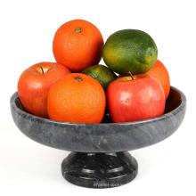 Marble Quartz Stone Fruit In Pedestal Bowl