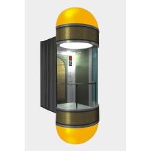 Elegent Elevador panorámico de pasajeros con cabina de vidrio
