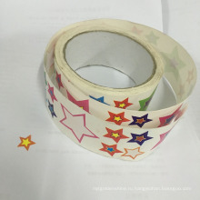 Прекрасная Звезда Шаблон Бумаги Наклейки Ролл
