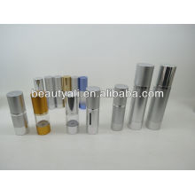 100ml 200ml AS And Aluminum Airless Bottles With Pump Dispenser
