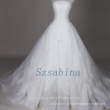 Fotos reais 2017 pérolas de renda vestido de noiva vestido de noiva