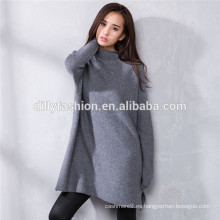 suéter de punto suelto suéter de lana merino con manga larga