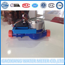 Digital water meter component with motor valve