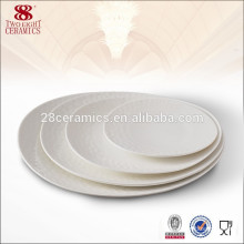 Flower shape dinnerware ceramic types dinner plates 10 inch