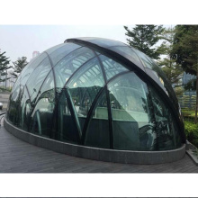 Curved double glazed glass safety tempered toughened soundproof insulated glass for partition wall window facade curtain wall