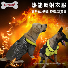 Doglemi Heat Reflective Dog Coat Outdoor Waterproof Warm Pet Clothes Reversible