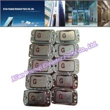 Кнопки LG Кнопки Лифт Лифт Запасные части Брайль из нержавеющей стали Push Call Button